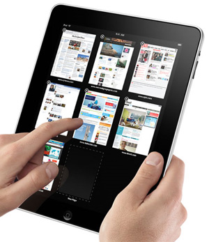Most popular toushcreen tablet - the Apple iPad