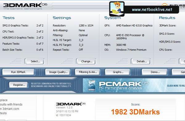 3DMark 06 on 1280 x 1024 px