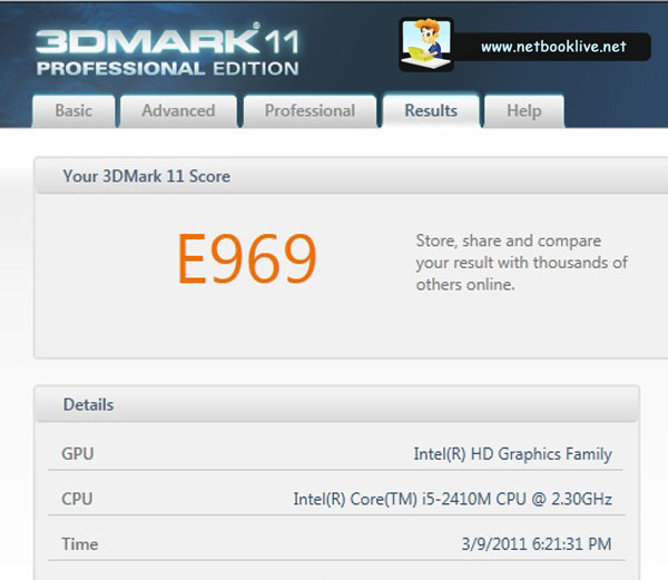3DMark 11 Entry