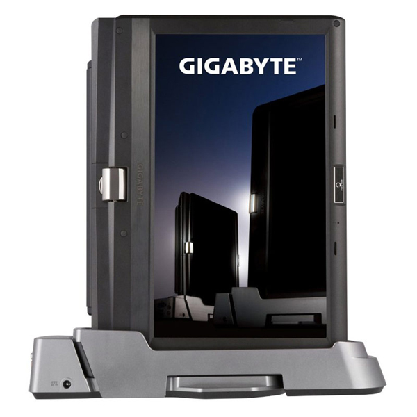 The docking station transforms the T1125N into a desktop computer that you can connect to a bigger display