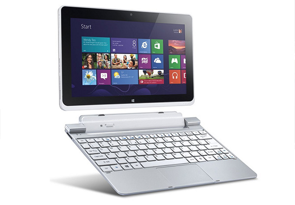 The Acer Iconia W550 is sleek and comes with a docking station