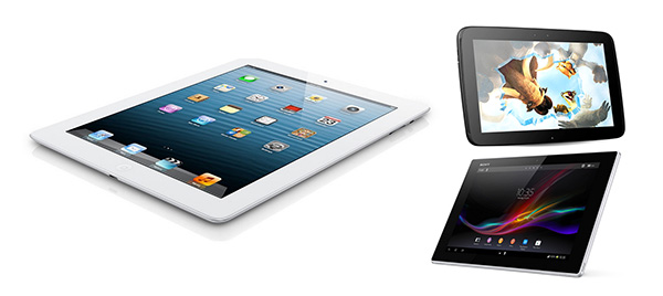 The other 10 inchers: Android tablets and the iPad