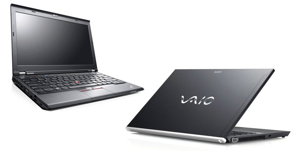 The Lenovo X230 and the Sony Vaio Z - the no-limit-spending options