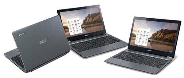 The Acer C7 Chromebook is a perfect laptop for kids - compact and very affordable